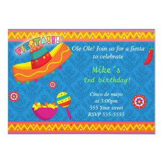 Fiesta de bienvenida al bebé mexicana del invitacion personalizada