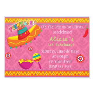 Fiesta de bienvenida al bebé mexicana del invitación 12,7 x 17,8 cm