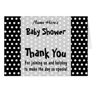 Fiesta de bienvenida al bebé, modelo de lunar blan tarjeta pequeña