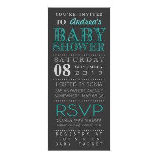Fiesta de bienvenida al bebé moderna de la tipogra invitaciones personales