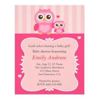 Fiesta de bienvenida al bebé momia y niño rosados anuncio