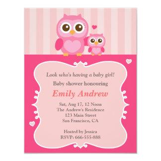 """Fiesta de bienvenida al bebé, momia y niño rosados invitación 4.25"""" x 5.5"""""""