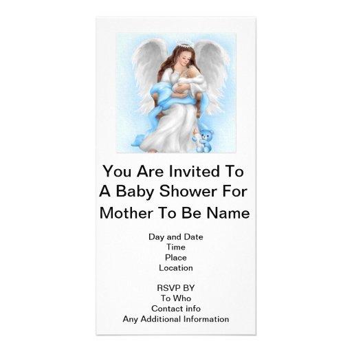 Fiesta de bienvenida al bebé (muchacho) tarjeta fotográfica personalizada