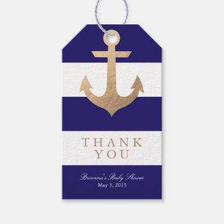 Fiesta de bienvenida al bebé náutica de la marina etiquetas para regalos