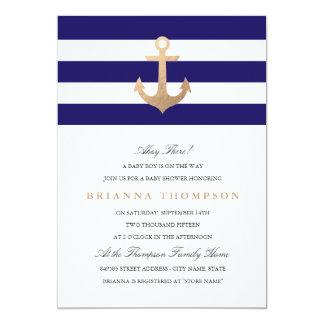 Fiesta de bienvenida al bebé náutica de la marina