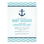 Fiesta de bienvenida al bebé náutica del ancla y invitación 12,7 x 17,8 cm
