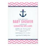 Fiesta de bienvenida al bebé náutica del ancla y invitación