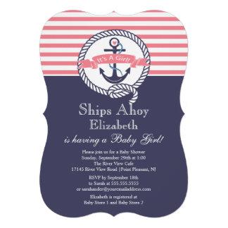 Fiesta de bienvenida al bebé náutica del chica del