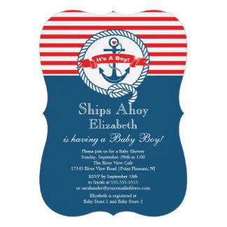 Fiesta de bienvenida al bebé náutica del muchacho