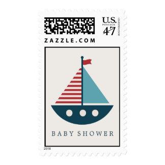 Fiesta de bienvenida al bebé náutica sello postal