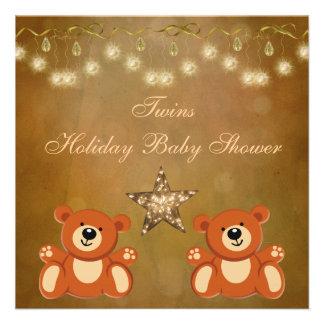 Fiesta de bienvenida al bebé neutral del navidad d invitación personalizada