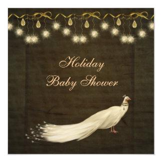 Fiesta de bienvenida al bebé neutral del navidad invitación 13,3 cm x 13,3cm