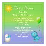 Fiesta de bienvenida al bebé nuevamente tramada invitación 13,3 cm x 13,3cm