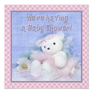 Fiesta de bienvenida al bebé - oso de peluche de comunicado personalizado