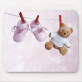 Fiesta de bienvenida al bebé para el chica tapete de ratón