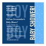 Fiesta de bienvenida al bebé para el muchacho B451 Invitación 13,3 Cm X 13,3cm