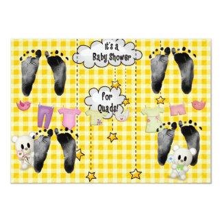 Fiesta de bienvenida al bebé para los cuadrúpedos invitación 11,4 x 15,8 cm