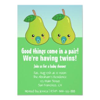 Fiesta de bienvenida al bebé para los gemelos - comunicados personales