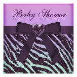 Fiesta de bienvenida al bebé púrpura elegante del  invitaciones personales