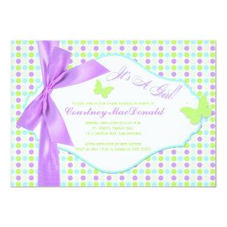 Fiesta de bienvenida al bebé púrpura IMPRESA de Invitacion Personal