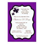 fiesta de bienvenida al bebé púrpura oscura de la invitacion personal