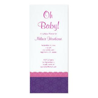 Fiesta de bienvenida al bebé púrpura y rosada V21 Anuncios Personalizados