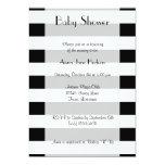 Fiesta de bienvenida al bebé - rayas, líneas - invitación 12,7 x 17,8 cm