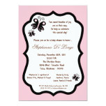 fiesta de bienvenida al bebé rosa clara de la invitacion personalizada