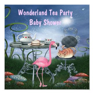 """Fiesta de bienvenida al bebé rosada de la fiesta invitación 5.25"""" x 5.25"""""""