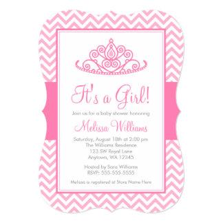 Fiesta de bienvenida al bebé rosada de princesa
