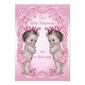 """Fiesta de bienvenida al bebé rosada de princesa invitación 5"""" x 7"""""""