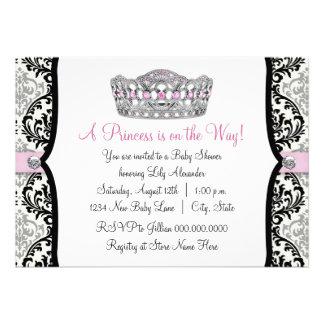 Fiesta de bienvenida al bebé rosada de princesa Pi Anuncios Personalizados