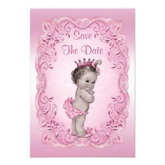 Fiesta de bienvenida al bebé rosada de princesa Sa Invitación Personalizada