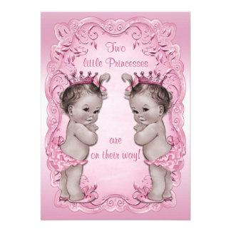 Fiesta de bienvenida al bebé rosada de princesa Tw Comunicados