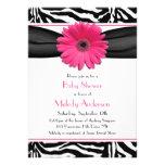 Fiesta de bienvenida al bebé rosada del chica del  invitación personalizada