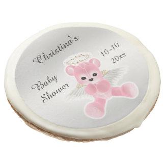 Fiesta de bienvenida al bebé rosada del oso de