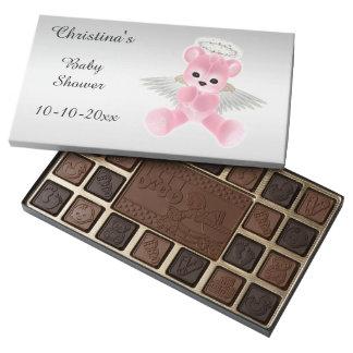 Fiesta de bienvenida al bebé rosada del oso de caja de bombones variados con 45 piezas