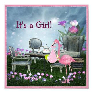 Fiesta de bienvenida al bebé rosada del país de invitación 13,3 cm x 13,3cm