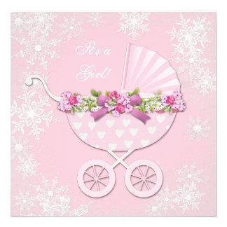 Fiesta de bienvenida al bebé rosada del país de la comunicados