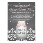 Fiesta de bienvenida al bebé rosada del tarro de invitación 12,7 x 17,8 cm