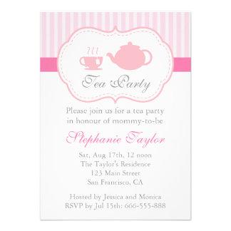 Fiesta de bienvenida al bebé rosada dulce fiesta anuncio