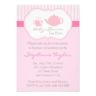 Fiesta de bienvenida al bebé rosada dulce fiesta invitación