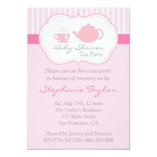 Fiesta de bienvenida al bebé rosada dulce, fiesta invitación 11,4 x 15,8 cm