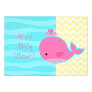 Fiesta de bienvenida al bebé rosada linda de la ba