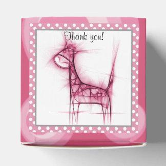 Fiesta de bienvenida al bebé rosada linda de la cajas para detalles de boda