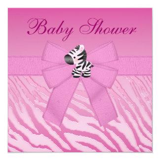 Fiesta de bienvenida al bebé rosada linda de la invitación