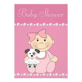 Fiesta de bienvenida al bebé rosada linda de la ni