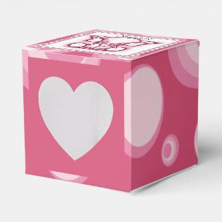 Fiesta de bienvenida al bebé rosada linda del cajas para regalos de boda