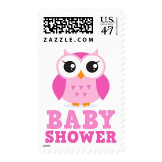 Fiesta de bienvenida al bebé rosada linda del sellos postales