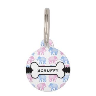 Fiesta de bienvenida al bebé rosada y azul del placa para mascotas